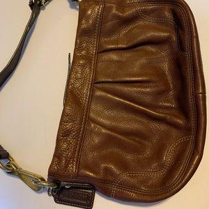 Coach! Brown Leather Shoulder Bag